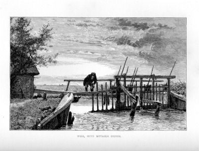 Weir with movable bridge010