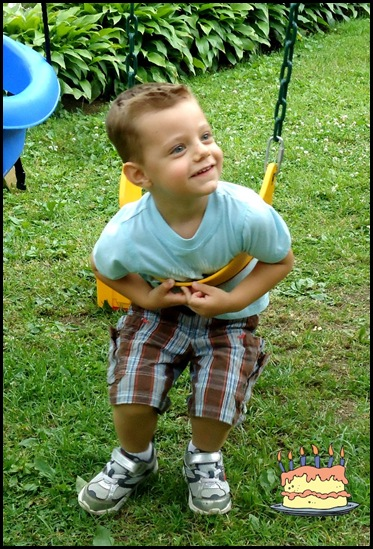 Aidan on swing