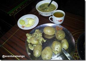 Batatas com manteiga e yerma