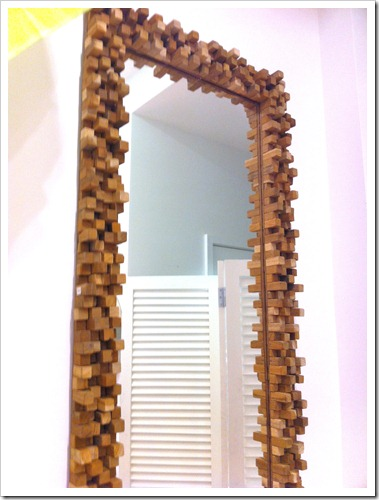wood peg mirror