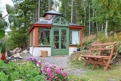 Växthus av återvinningsmaterial