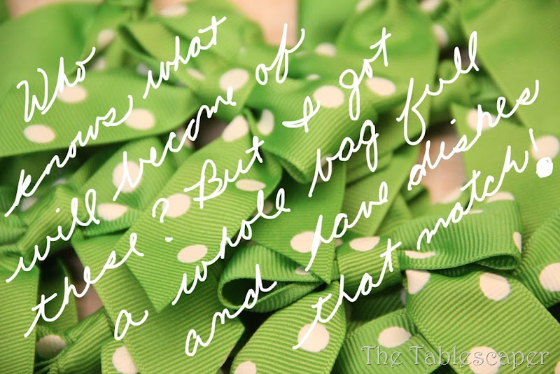 green polka dot bows with words