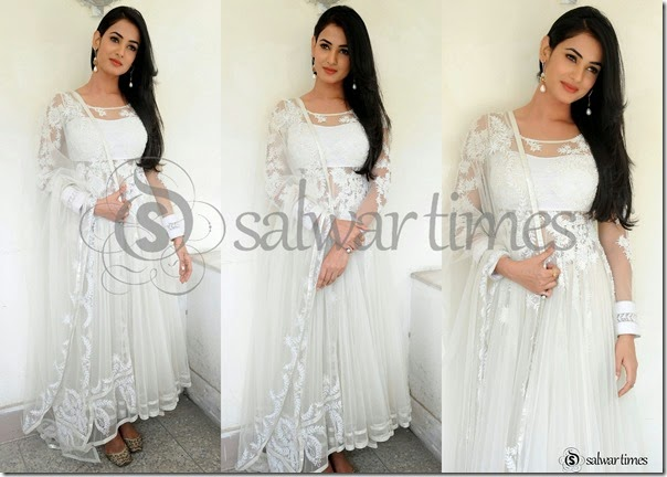 Sonal_Chauhan_White_Full_Sleeves_Salwar_Kameez