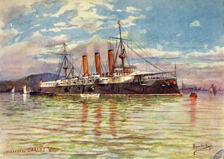 Acuarela de Hernandez Monjó del EMPERADOR CARLOS V. Del libro La Armada Española.JPG