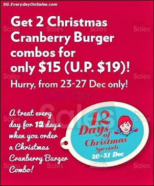 Wendy 2 Christmas Cranberry Combos Jualan Gudang EverydayOnSales Offers Buy Sell Shopping