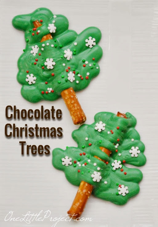 christmas tree treat on a stick