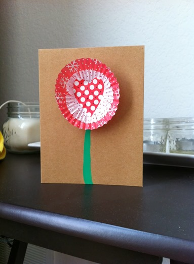 Cupcake Liner Valentine Cards