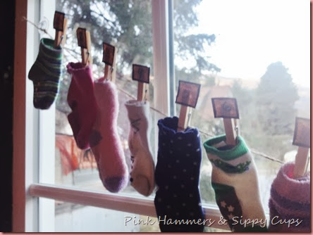 Pink Hammers & Sippy Cups Sock Advent Calendar