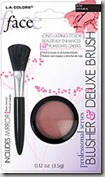 LA Colors Blusher and Deluxe Brush 01