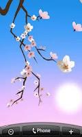 Screenshot of Lovely Sakura Live Wallpaper