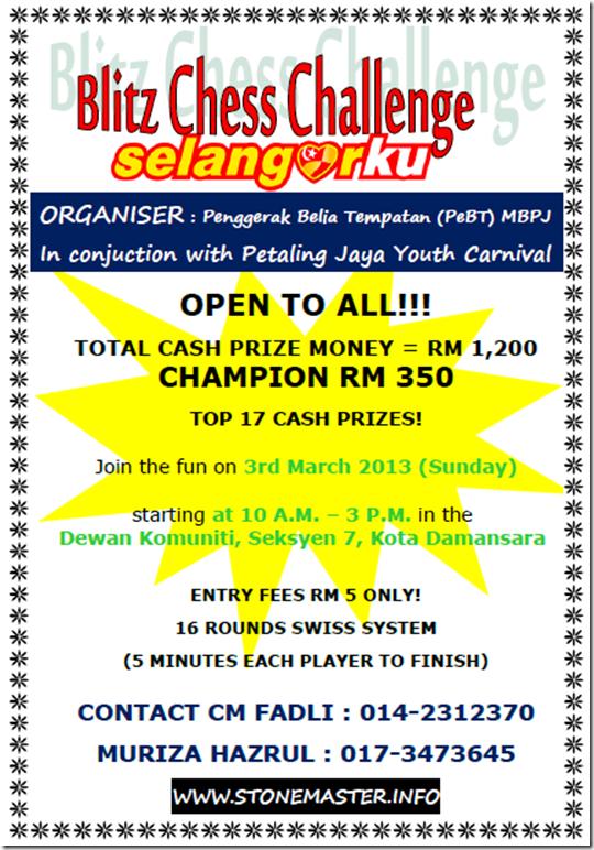 Blitz Chess Challenge SelangorKu 2013