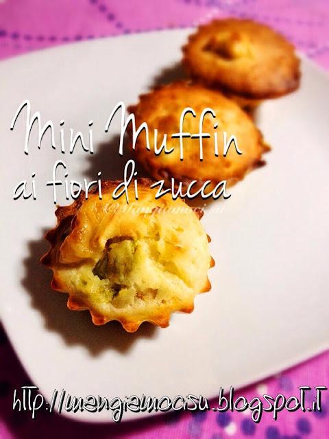mini-muffin ai fiori di zucca
