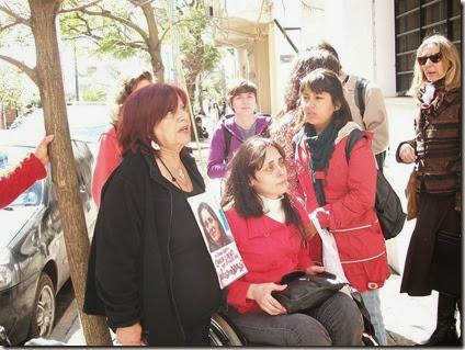 Carla Lacorte en Tribunal de Quilmes por detencion de Salmo