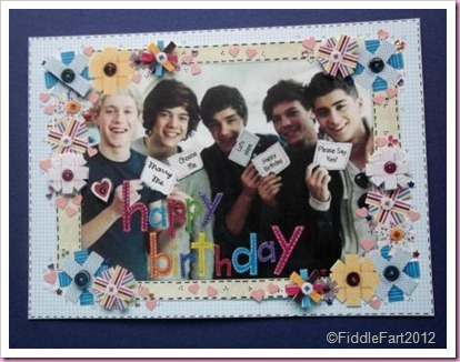 Its All Fiddle Fart One Direction Card Made Using Craft Artist