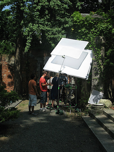 Here, everyone prepping the shot.