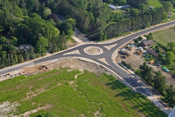 Collingwood Ontario Roundabout Under Construction