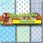 snowflakes digital paper pack