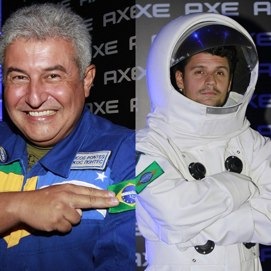 Marcos Pontes e Felipe Solari em AXE