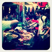 Night market delicatessen