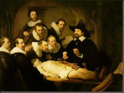 La leccion de Anatomia del Doctor Tulp. Rembrandt. 1632