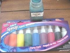 fabric spray paint set