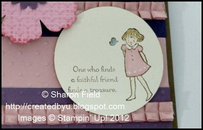 close up of little girl from lean on me stamp set and water color with markers