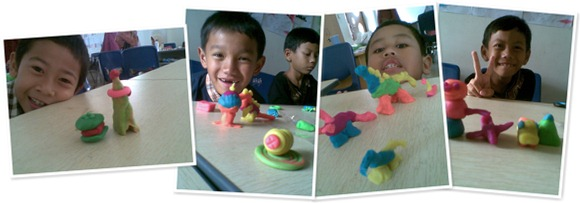 View Playing with plasticine