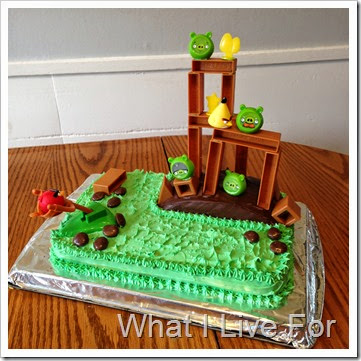 Angry Birds Birthday Cake @ whatilivefor.net