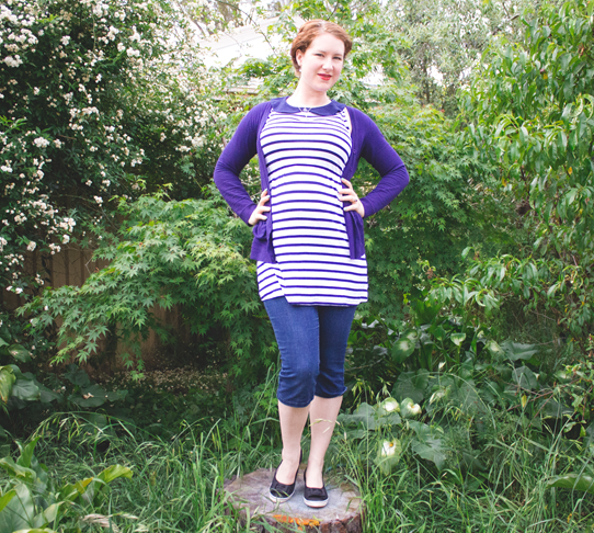 Nautical style in navy and white stripes | Lavender & Twill