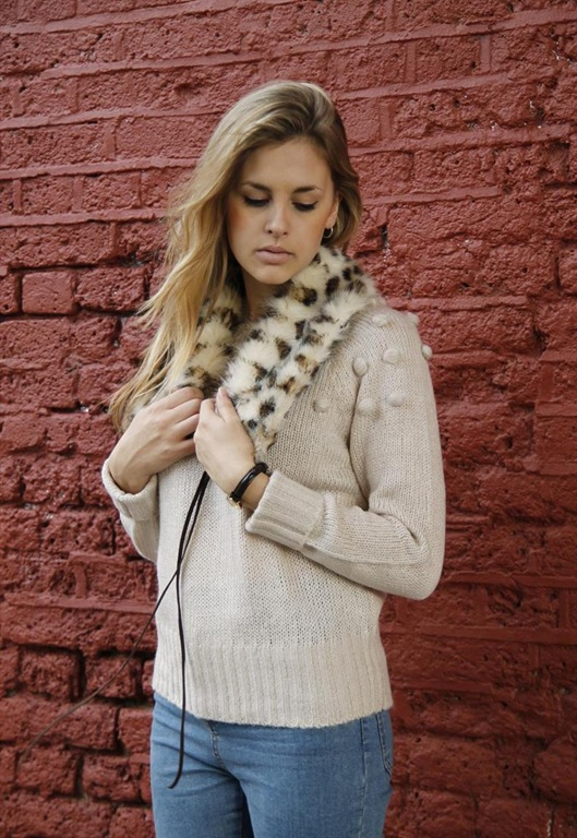 Faux Fur Collar Scarf, £22, The Whitepepper