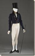 Veste, Angleterre, et pantalon, Ecosse, 1825-1830 Veste : drap de laine Pantalon : crêpe de soie