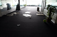 Fairly empty office before the floods