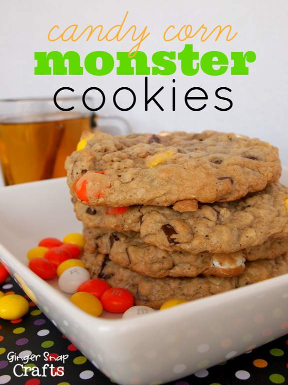 Candy Corn Monster Cookies #HarvestFun #cbias #spon #recipe