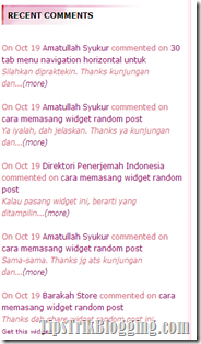 Widget Recent Comment Versi 1