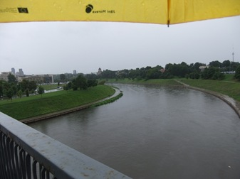 río Neris, Vilna