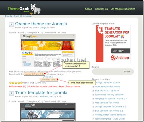 templet Orange dalam themegoat.com