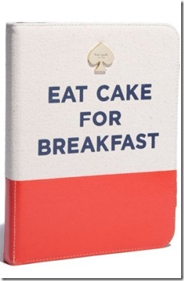 Kate Spade Eat Cake ipad folio