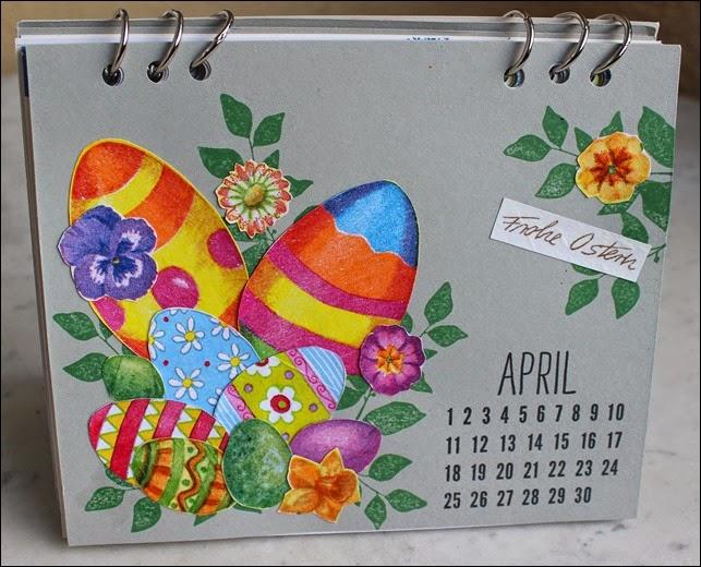 Tischkalender 2015 selbermachen basteln Blanko Vorlage 07
