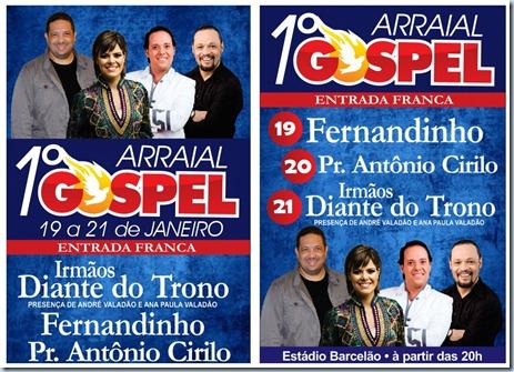 Totem 1º Arraial Gospel 2012