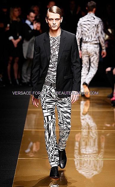 Versace H&M New York Mens Runway Show Donatella Versace