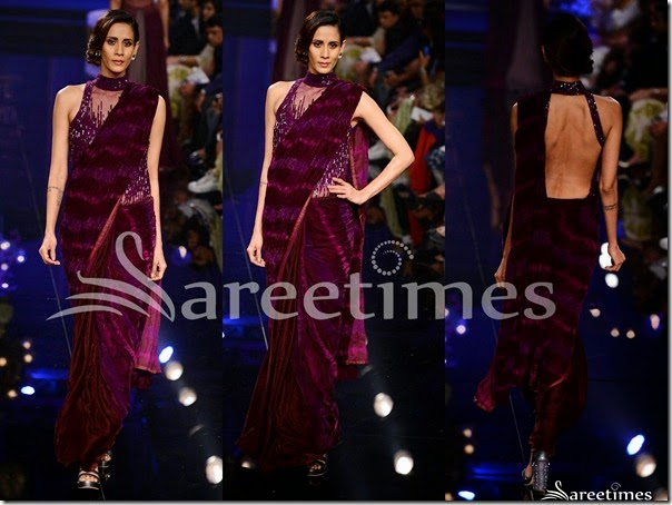 Manish_Malhotra_Purple_Saree