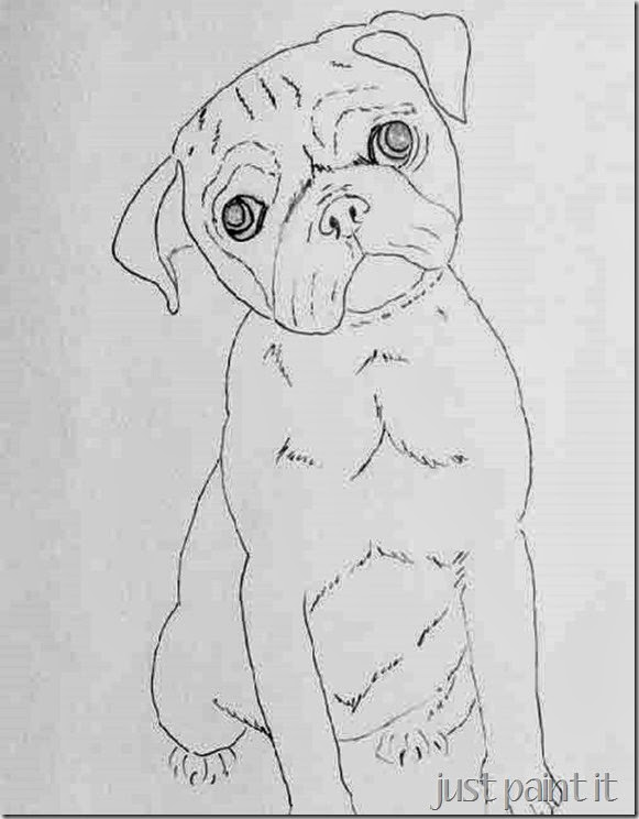 pug-line-art