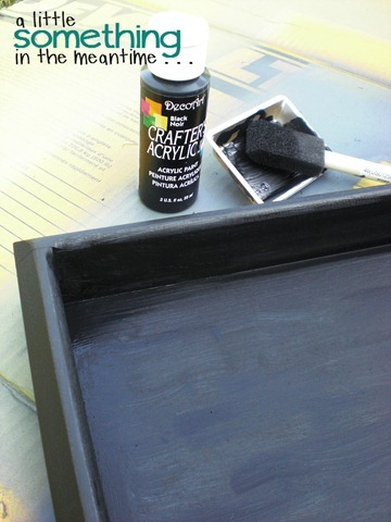 Faux Zinc Tray Black Paint WM