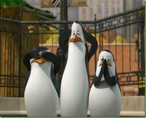 three wise penguins