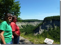 Pam and Gin at Letchworth State Park NY