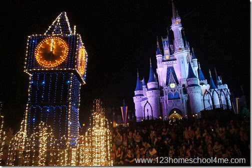 Disney Fastpass+ Includes shows! Main Street Electrical Parade seen from VIP Fastpass+ Resrved Area