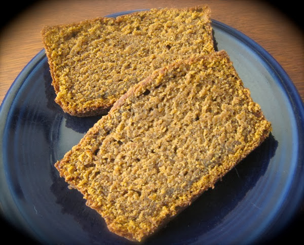 Gluten free pumpikin bread slices