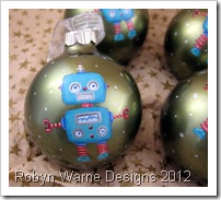 Little Robot Ornament Closeup