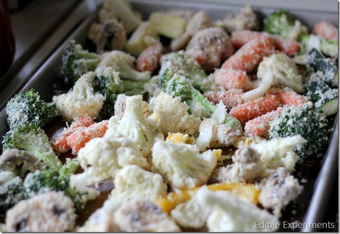tempura veggies pre baking