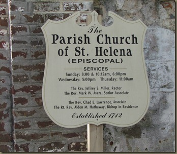 Parish Church of St. Helena, EST 1712